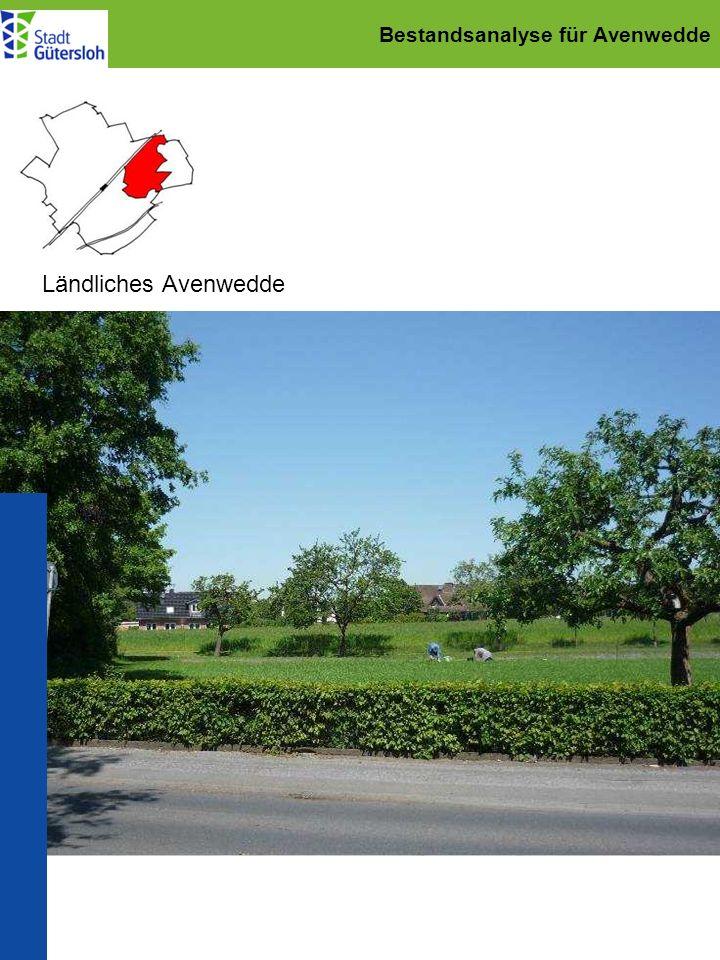 Städtebaulicher Rahmenplan für Avenwedde Grünraumplanung: Ergänzung des Wegenetzes Priorität 1 Verbindung Sportplätze Wegeverbindung Av.-Bhf.
