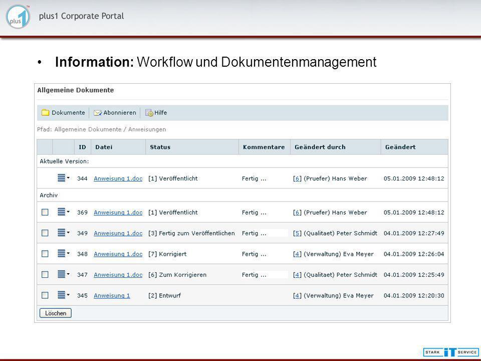 Information: Workflow und Dokumentenmanagement