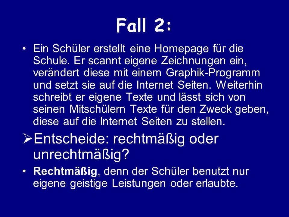 Fall 3: Ein Schüler erstellt eine Klassen-Homepage.