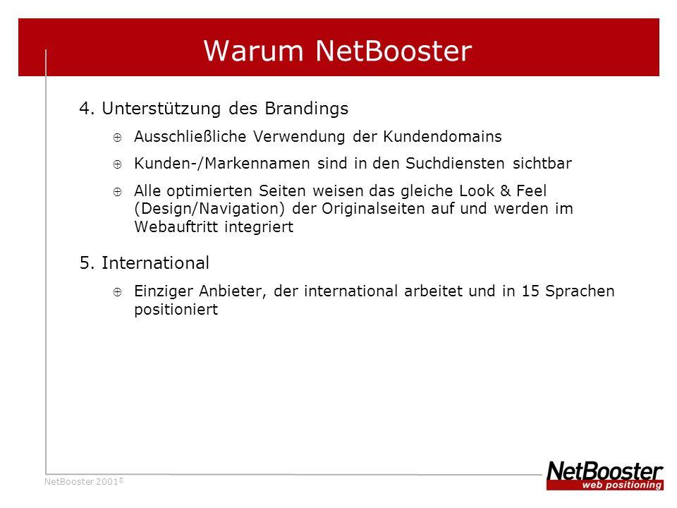 NetBooster 2001 © Warum NetBooster 4.