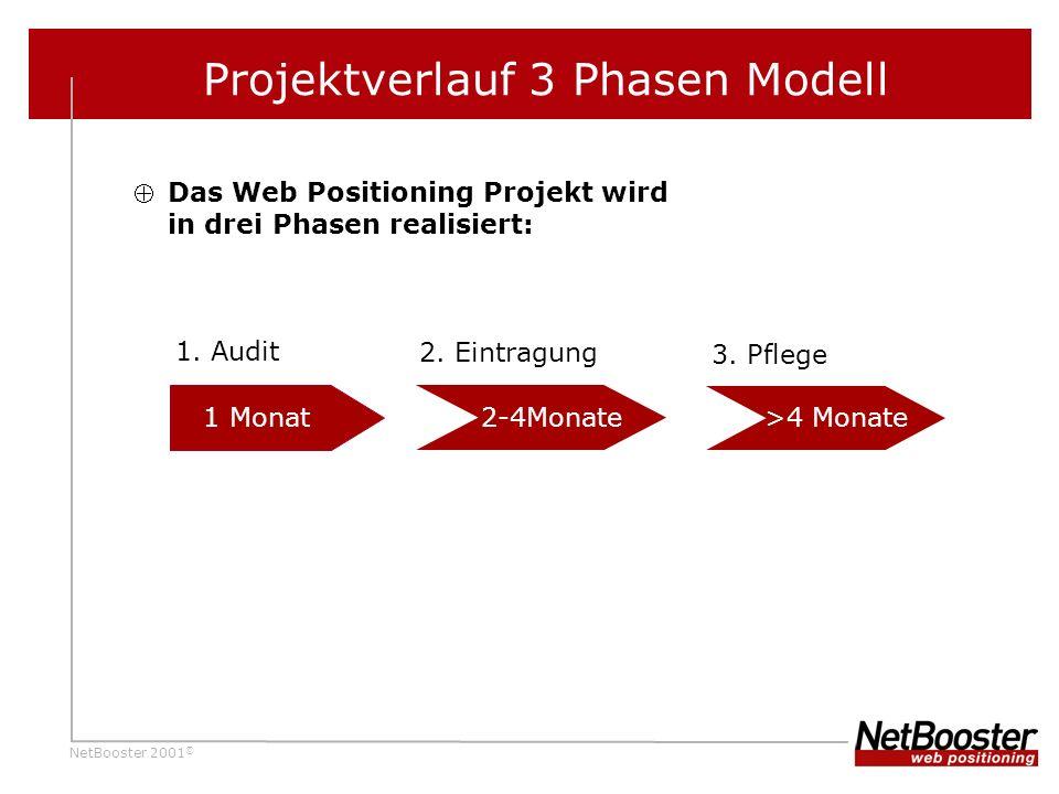 NetBooster 2001 © Projektverlauf 3 Phasen Modell 1.