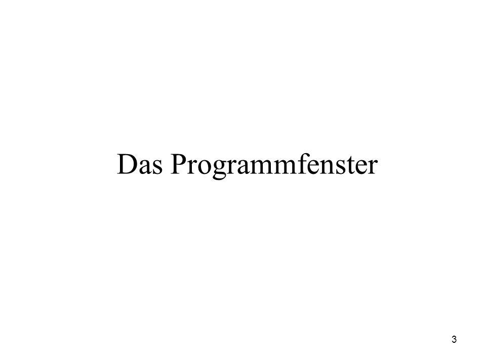 3 Das Programmfenster