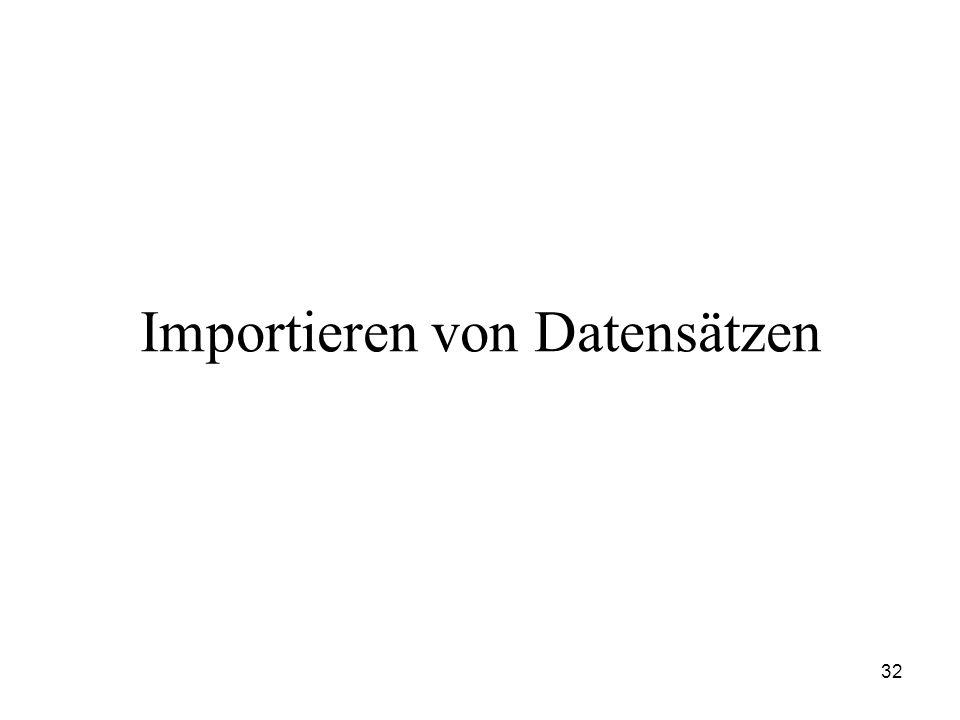 32 Importieren von Datensätzen