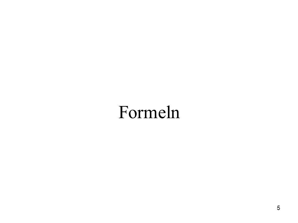 5 Formeln