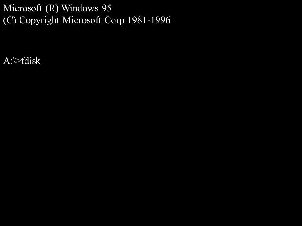 Die Installation von Windows 95 erfordert etwas Vorarbeit: Als erstes müssen Sie mit einer Windows 95 Startdiskette den Computer booten....