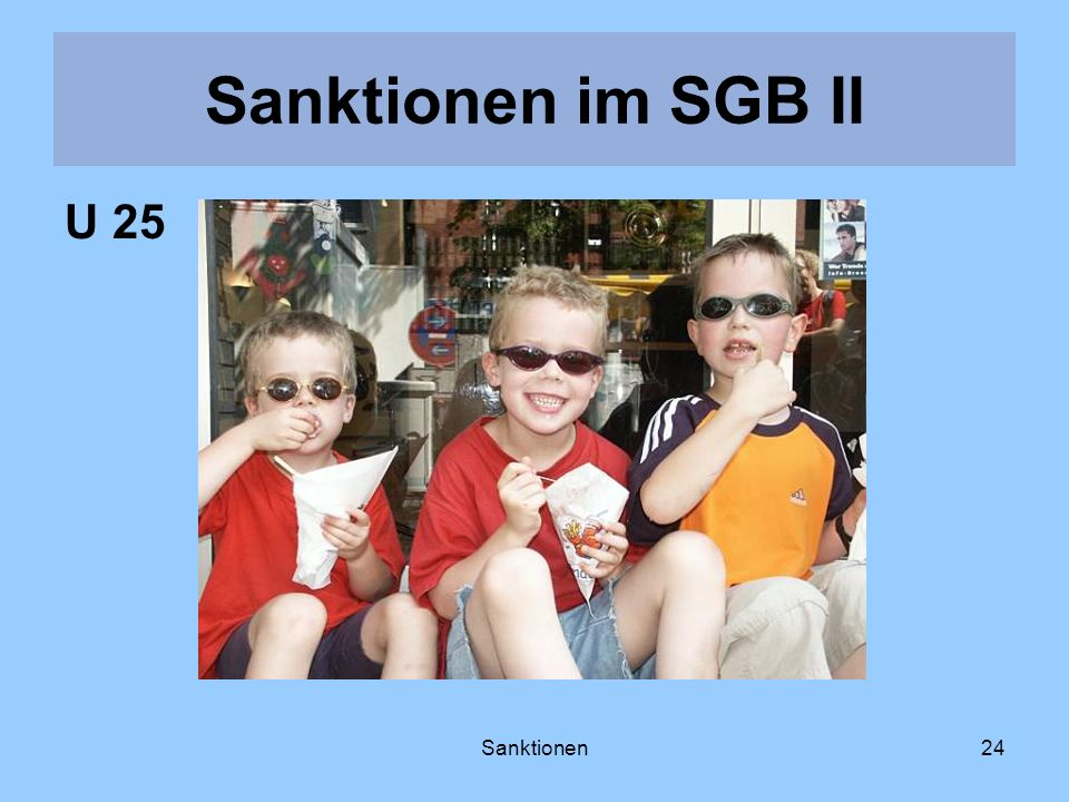 Sanktionen24 U 25 Sanktionen im SGB II