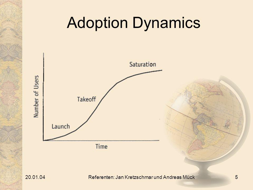 20.01.04Referenten: Jan Kretzschmar und Andreas Mück5 Adoption Dynamics
