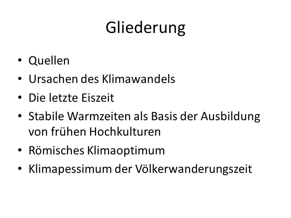 Gliederung II Mittelalterliche Warmzeit Kleine Eiszeit Scheinbare Abkoppelung von den Kräften der Natur nach 1800 Frühe Treibhaustheorien und Klimakapriolen bis 1960