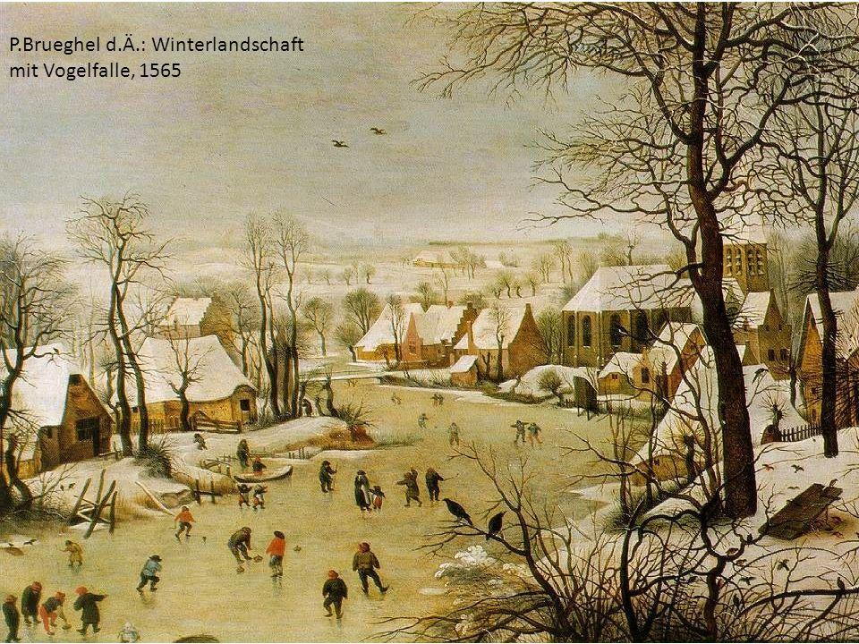 P.Brueghel d.Ä.: Winterlandschaft mit Vogelfalle, 1565