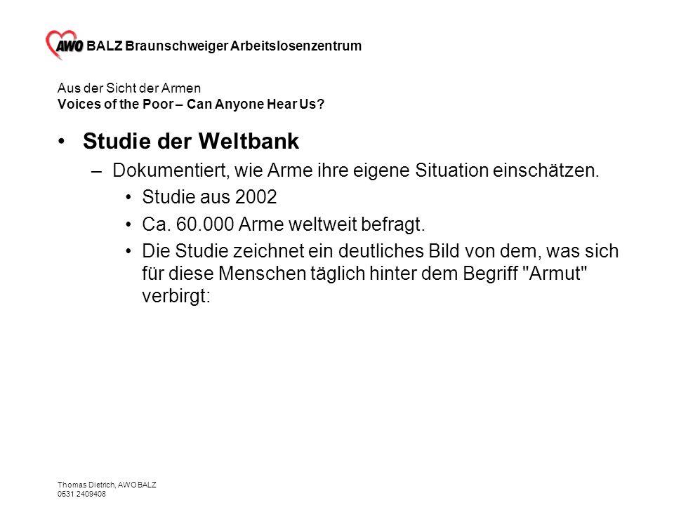BALZ Braunschweiger Arbeitslosenzentrum Thomas Dietrich, AWO BALZ 0531 2409408 Künftige Hilfen - ab 1.