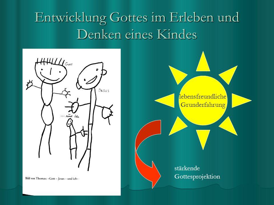 Entwicklung Gottes im Erleben und Denken eines Kindes lebensfreundliche Grunderfahrung stärkende Gottesprojektion