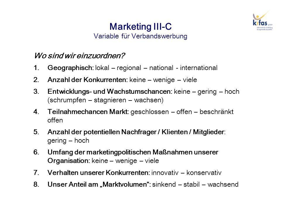 Marketing IX Kommunikationspolitik - Werbung Ebenen von Werbeaktivitäten 1.Werbeziele: Einführungs-, Expansions-, Erinnerungswerbung / Berührungs-, Beeindruckungs-, Erinnerungs-, Interesseweckungs- und Aktionserfolg 2.Zahl der Umworbenen: persönliche Direktwerbung – Mengenwerbung 3.Beabsichtigte Wirkung: Informationswerbung – Suggestivwerbung 4.Formale Gestaltung / Werbeträger: Anzeigen – Prospekte – Plakate – Werbefilme (Videos) – Werbebriefe – Flugblätter (Flyer) – Schaukasten – Homepage – E-Mailwerbung – Bannerwerbung – CD-Rom – Event- Marketing 5.Psychologische Ausgestaltung: Farben – unterschwellige Botschaften – überschwellige Botschaften 6.Werbeobjekte: konkrete Einzelangebote – Angebotsgruppen – Werbung für die gesamte Organisation 7.Werbeplanung: feste vs.