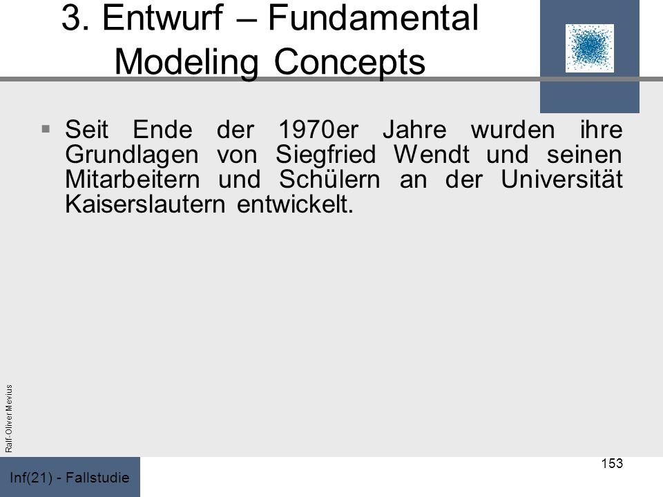 Inf(21) - Fallstudie Ralf-Oliver Mevius 3. Entwurf – Fundamental Modeling Concepts Seit Ende der 1970er Jahre wurden ihre Grundlagen von Siegfried Wen