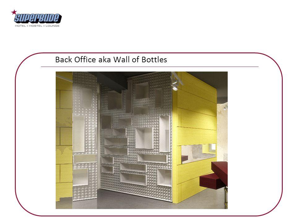 Back Office aka Wall of Bottles