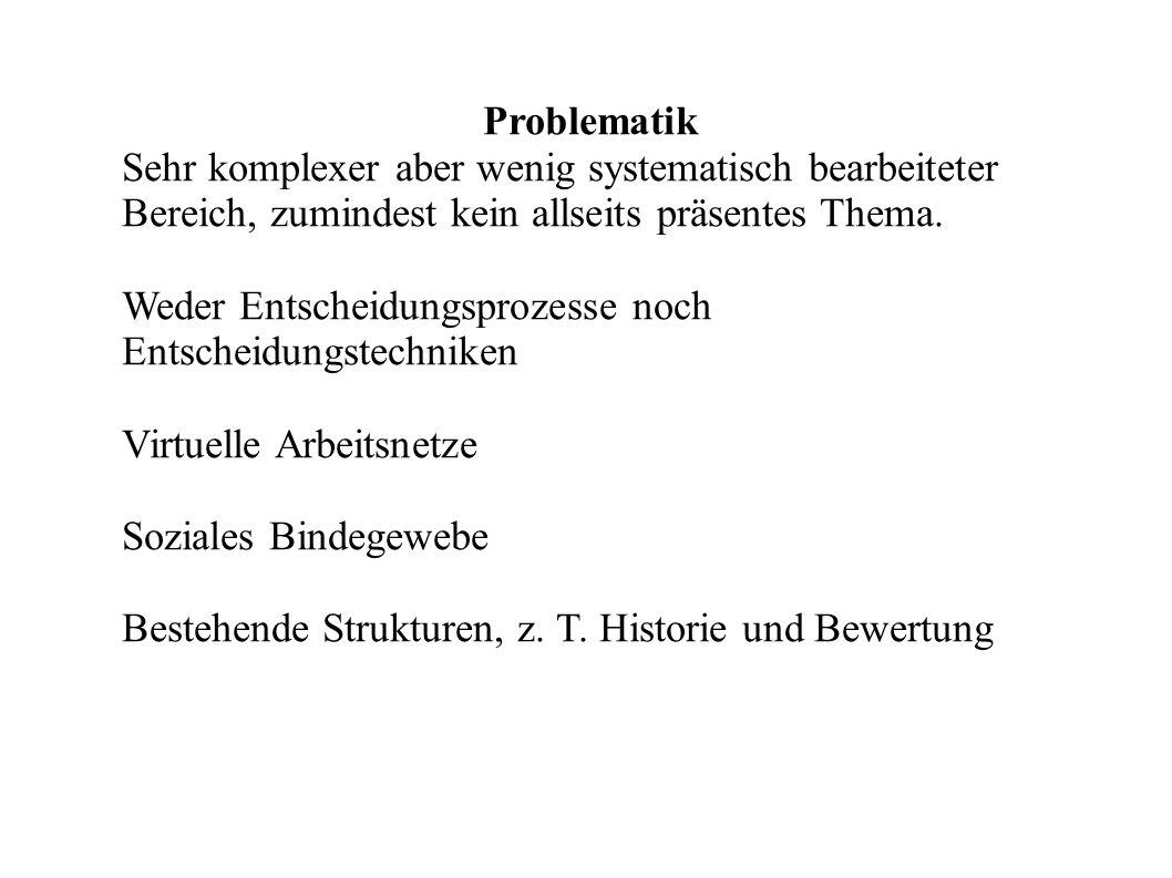 2. Konventionelle Entscheidungsstrukturen