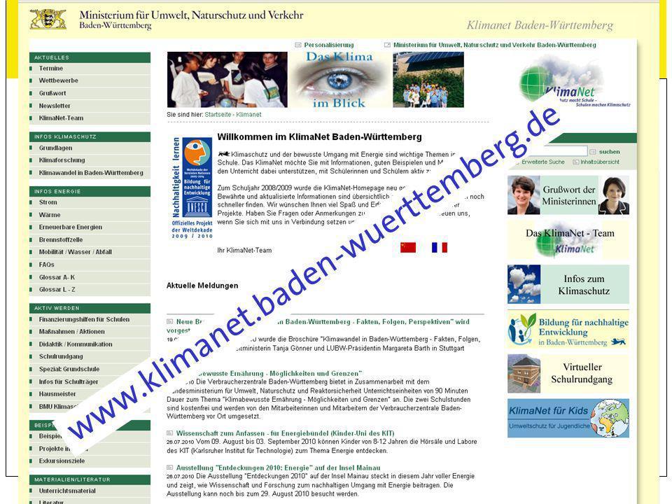 www.kea-bw.deAngebote für Kindergärten und Schulen18 Information und Beratung im Land KlimaNet Baden-Württemberg www.klimanet.baden-wuerttemberg.de Re