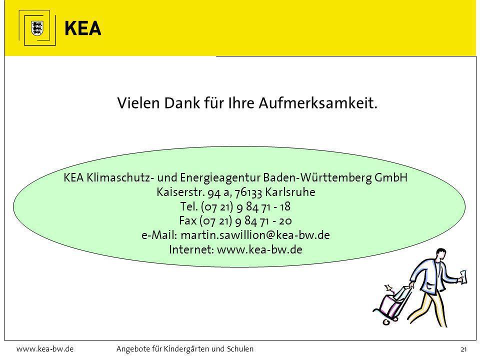 www.kea-bw.deAngebote für Kindergärten und Schulen20 Regionale Energieagenturen Flächendeckendes Netz in BW Die Gründung einer regionalen Energie- age