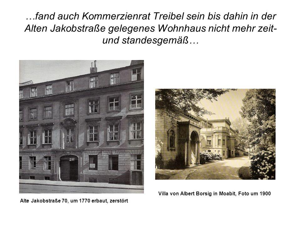 …fand auch Kommerzienrat Treibel sein bis dahin in der Alten Jakobstraße gelegenes Wohnhaus nicht mehr zeit- und standesgemäß… Alte Jakobstraße 70, um