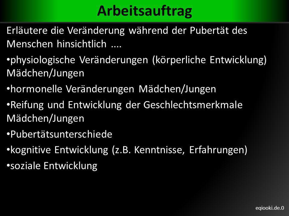 eqiooki.de.4g Psychologische Pubertätsmerkmale Die psychischen Veränderungen in der Pubertät sind individuell unterschiedlich, z.B.