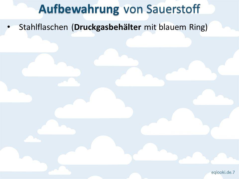 eqiooki.de.7 Stahlflaschen (Druckgasbehälter mit blauem Ring) Aufbewahrung von Sauerstoff