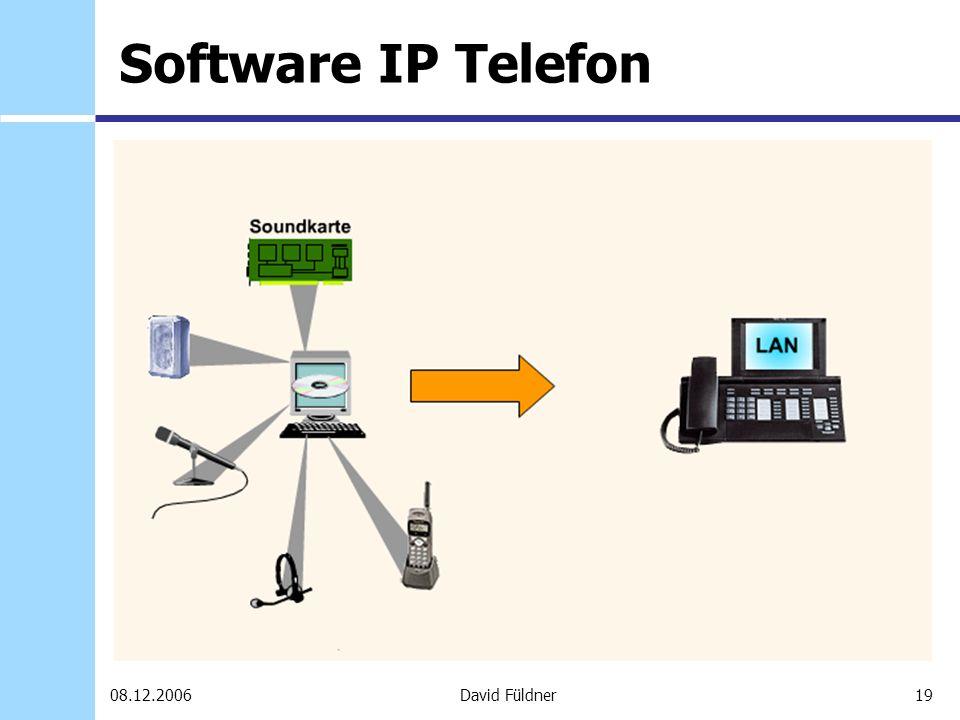 19David Füldner08.12.2006 Software IP Telefon