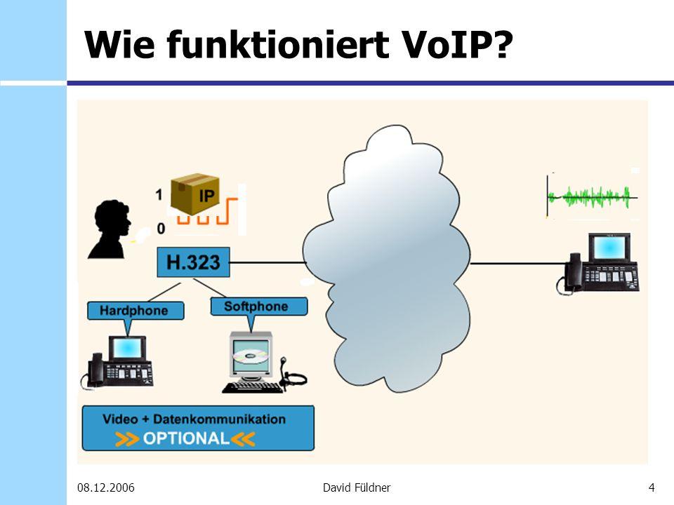 25David Füldner08.12.2006 SkypeOut Ermöglicht das Anrufen von Festnetz- und Mobiltelefonnummern Vorheriges kaufen von Skype-Guthaben (mindestens 10,- ( 11,50 einschl.