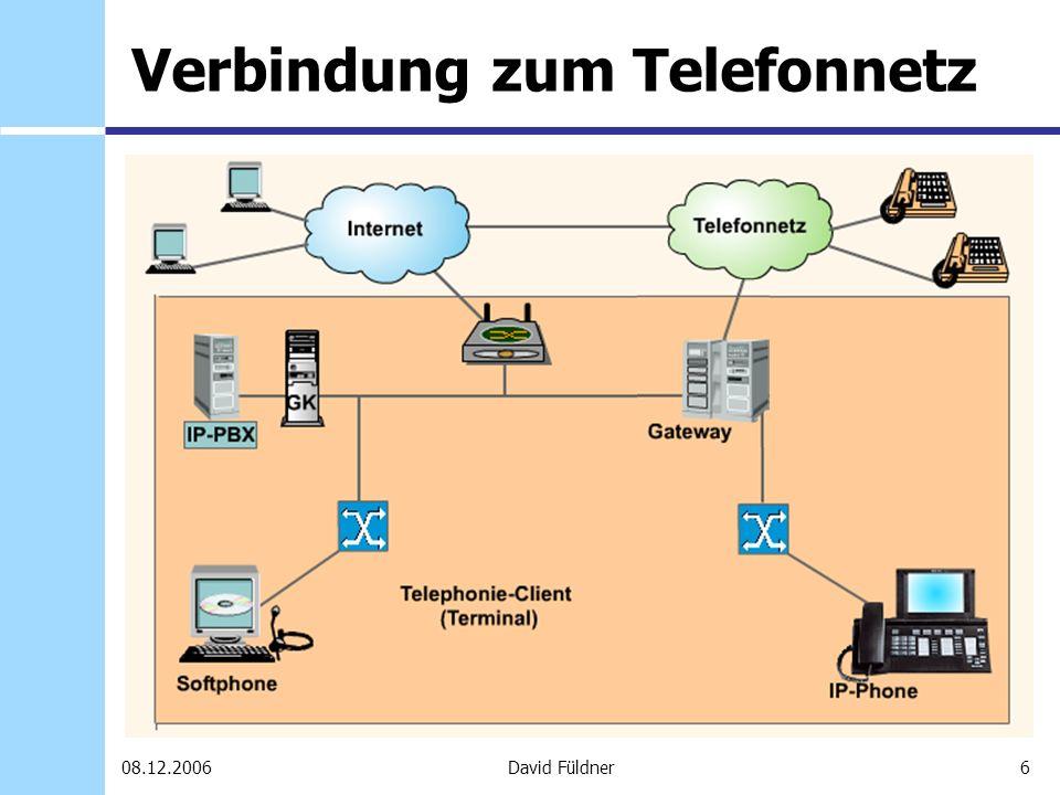 27David Füldner08.12.2006 Skype Voicemail Kostenlos zum SkypeIn Man muß nicht online sein, um Voicemails zu empfangen Personalisierung möglich (z.B.