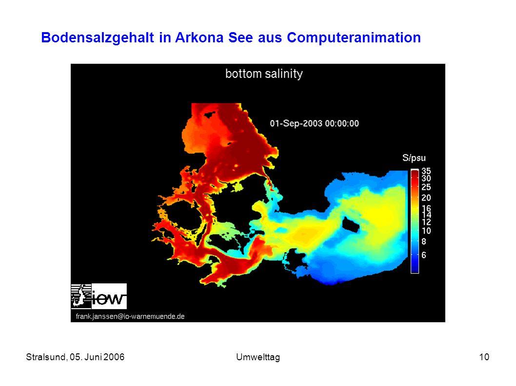 Stralsund, 05. Juni 2006Umwelttag10 Bodensalzgehalt in Arkona See aus Computeranimation
