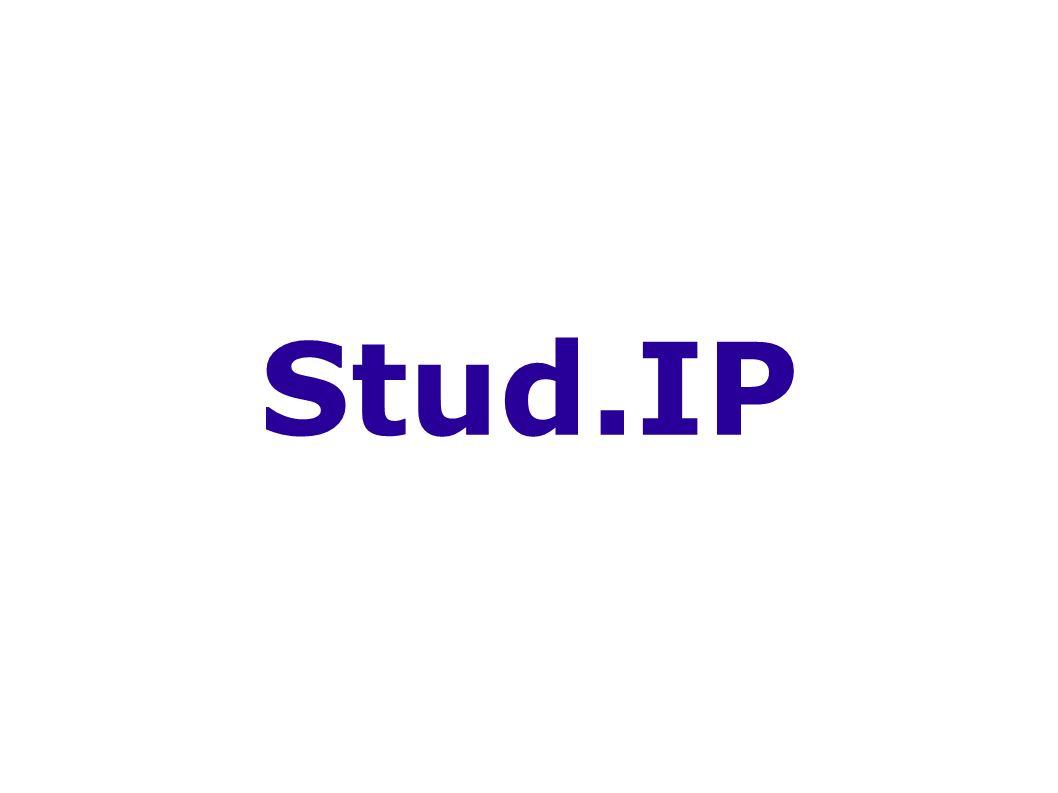 SommerSemester 2004 Einführung Stud.IP Stud.IP