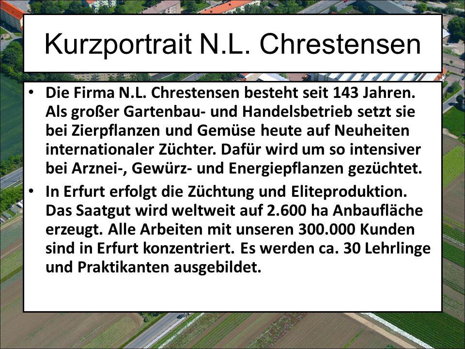 Kurzportrait N.L. Chrestensen Die Firma N.L. Chrestensen besteht seit 143 Jahren.