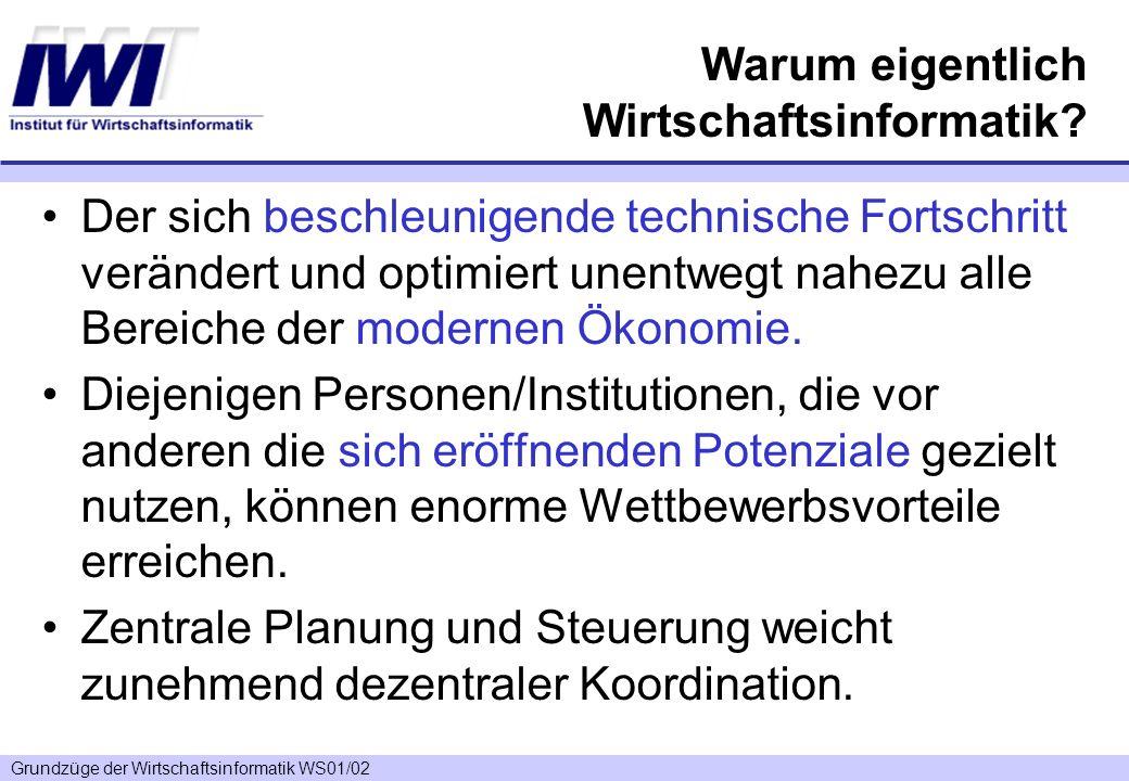 Grundzüge der Wirtschaftsinformatik WS01/02 Berühmte Irrtümer There is not the slightest indication that nuclear energy will ever be obtainable.