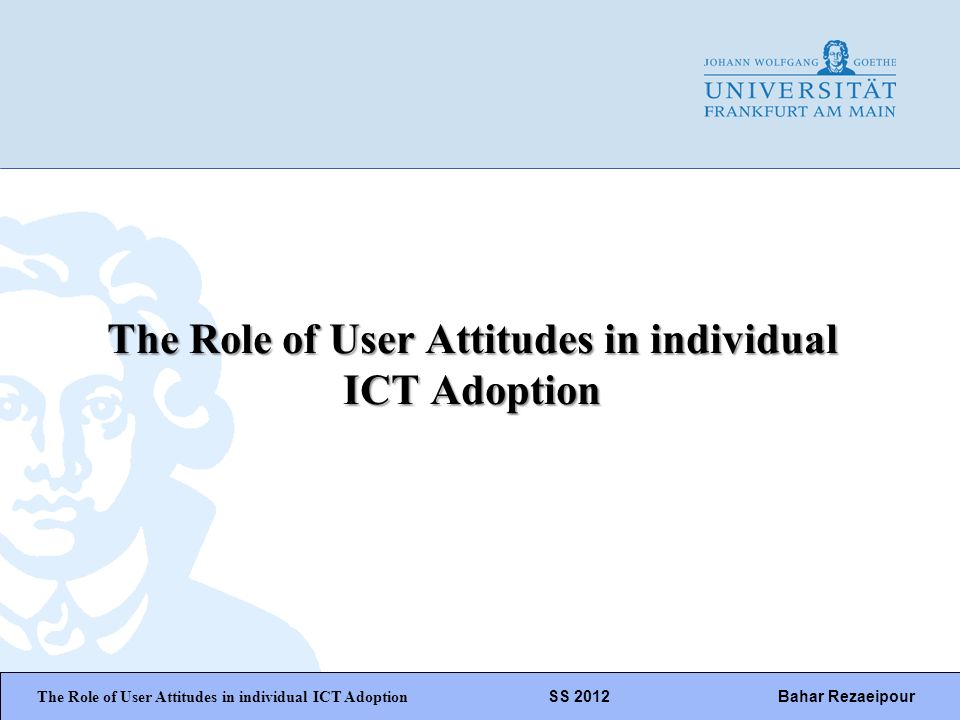 WiPäF WS 2010/2011 Kira Baborsky, Christian Wunschik Seite 1 The Role of User Attitudes in individual ICT Adoption The Role of User Attitudes in indiv