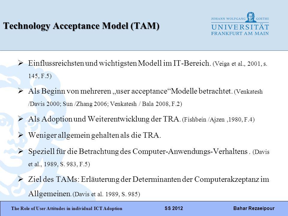 WiPäF WS 2010/2011 Kira Baborsky, Christian Wunschik Seite 13 Technology Acceptance Model (TAM) Einflussreichsten und wichtigsten Modell im IT-Bereich