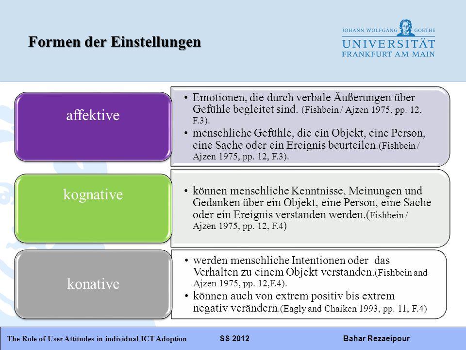 WiPäF WS 2010/2011 Kira Baborsky, Christian Wunschik Seite 19 The Role of User Attitudes in individual ICT Adoption SS 2012Bahar Rezaeipour Verteilung auf hedonistische oder funktionelle Systeme: