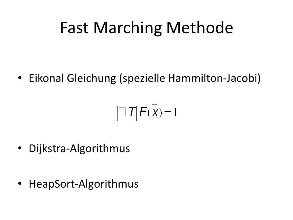 Fast Marching Methode Eikonal Gleichung (spezielle Hammilton-Jacobi) Dijkstra-Algorithmus HeapSort-Algorithmus