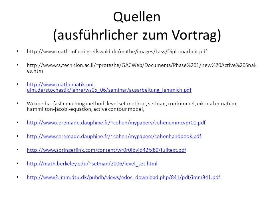 Quellen (ausführlicher zum Vortrag) http://www.math-inf.uni-greifswald.de/mathe/images/Lass/Diplomarbeit.pdf http://www.cs.technion.ac.il/~protezhe/GA