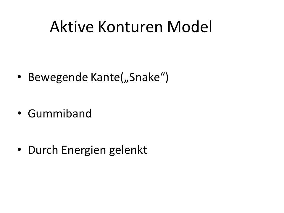Aktive Konturen Model Bewegende Kante(Snake) Gummiband Durch Energien gelenkt