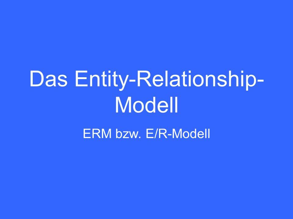 15 ERM - Relationales Datenbankschema Das ERM ist optimal für die Modellierung des konzeptionellen Schemas für relationale DB-Systeme.