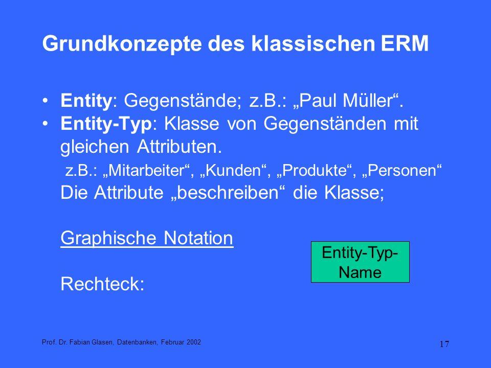 18 Beispiele:Entity-Typen Prof.Dr.