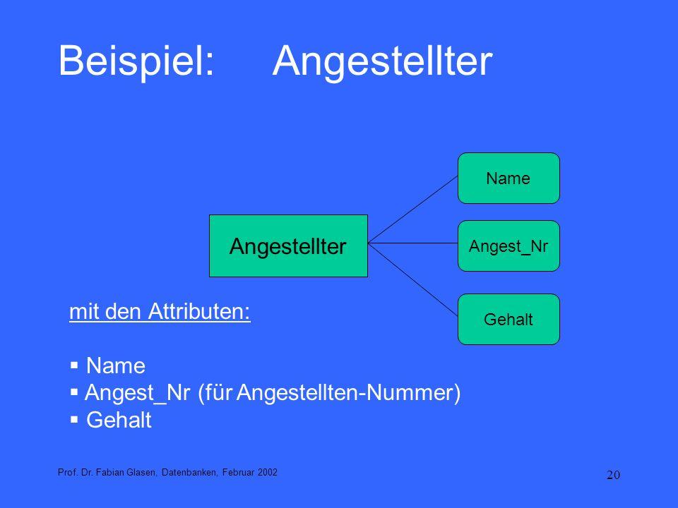21 Grundkonzepte des klassischen ERM Relationship: Beziehung zwischen Entities; z.B.: verheiratet mit: Paul Müller und Maria Müller.