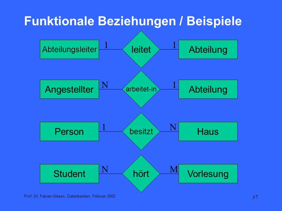 38 Relationships - Funktionale Beziehungen Prof.Dr.