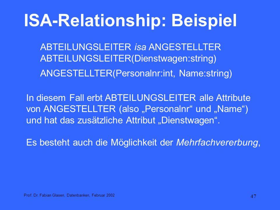 48 ISA-Relationship: Beispiel Prof.Dr.