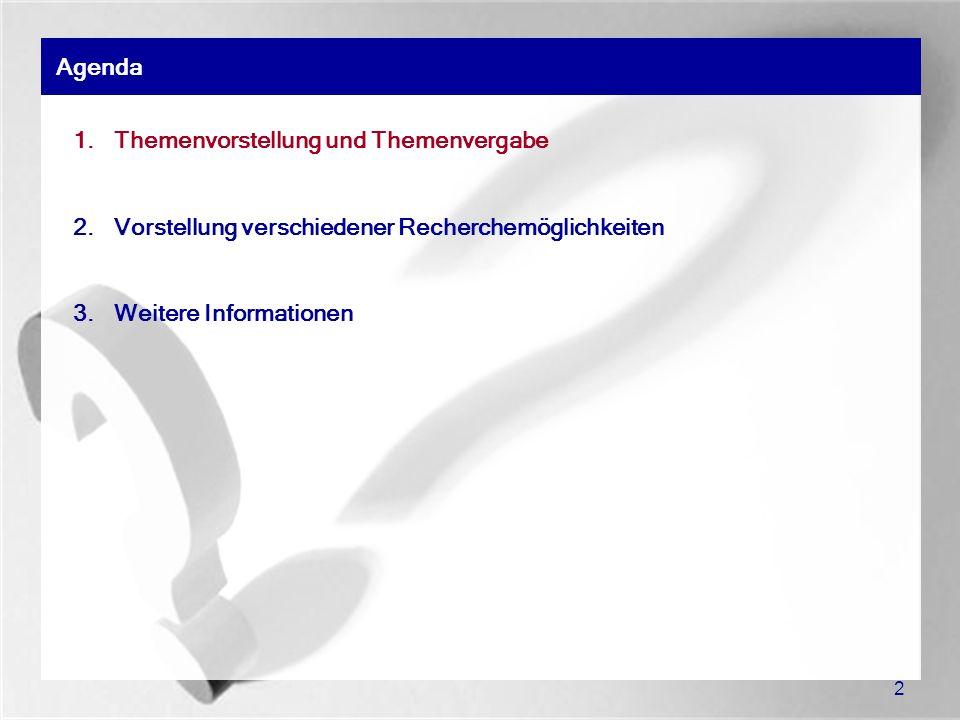 13 Übersicht: Datenbanken (WiWi) der SULB System: Universität Regensburg