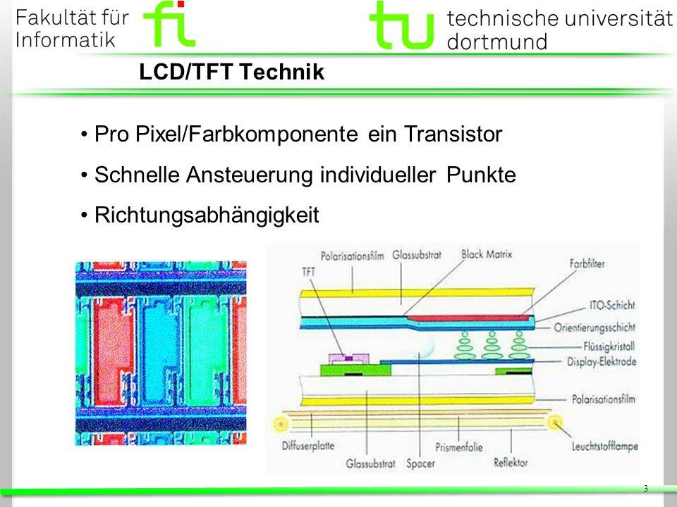 14 Z-Buffer Speicher auf Grafikkarte (üblicherweise im Framebuffer) Speichert n-Bit Tiefeninformationen pro Pixel Hardware führt Vergleiche während des Zeichnens aus