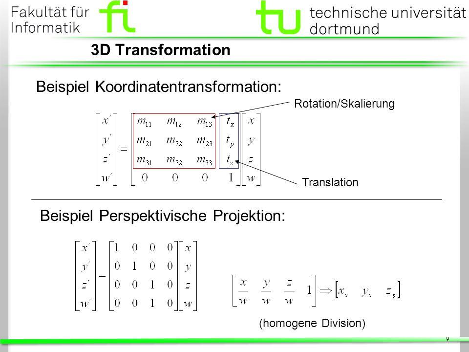 20 Schattierung Gouraud Phong Interpolation der Intensitäten Einfache Berechnung Hohe Geschwindigkeit Interpolation der Normalen Normalisierung pro Pixel(!) Evaluation des Beleuchtungs- modells pro Pixel(!) Hoher Rechenaufwand