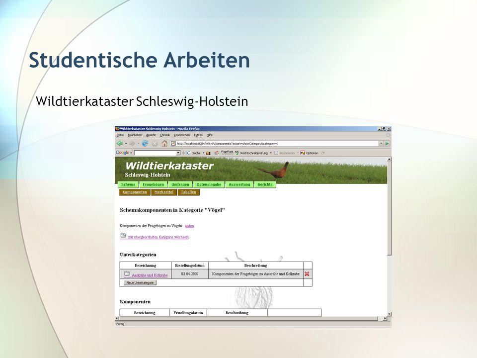 Studentische Arbeiten Wildtierkataster Schleswig-Holstein