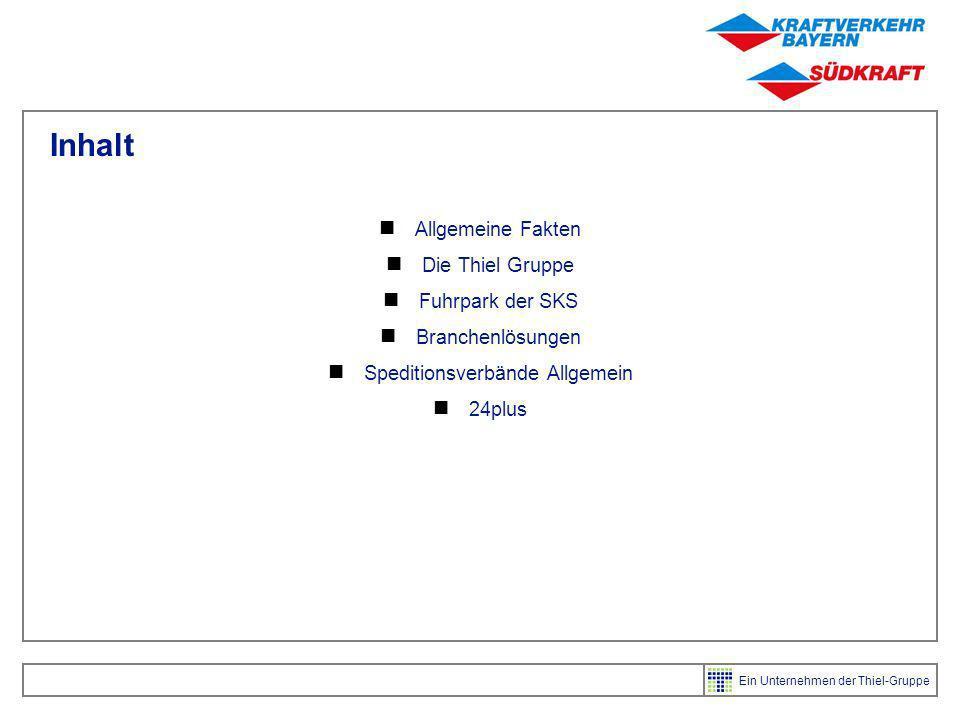 Ein Unternehmen der Thiel-Gruppe Einige Fakten Gründung des Unternehmens 1909 Thiel Logistik ist 100% Teilhaber Ca 1450 Mitarbeiter Jahresumsatz 2004: 230 Mio Euro 34 Standorte in Deutschland und angrenzendem Ausland