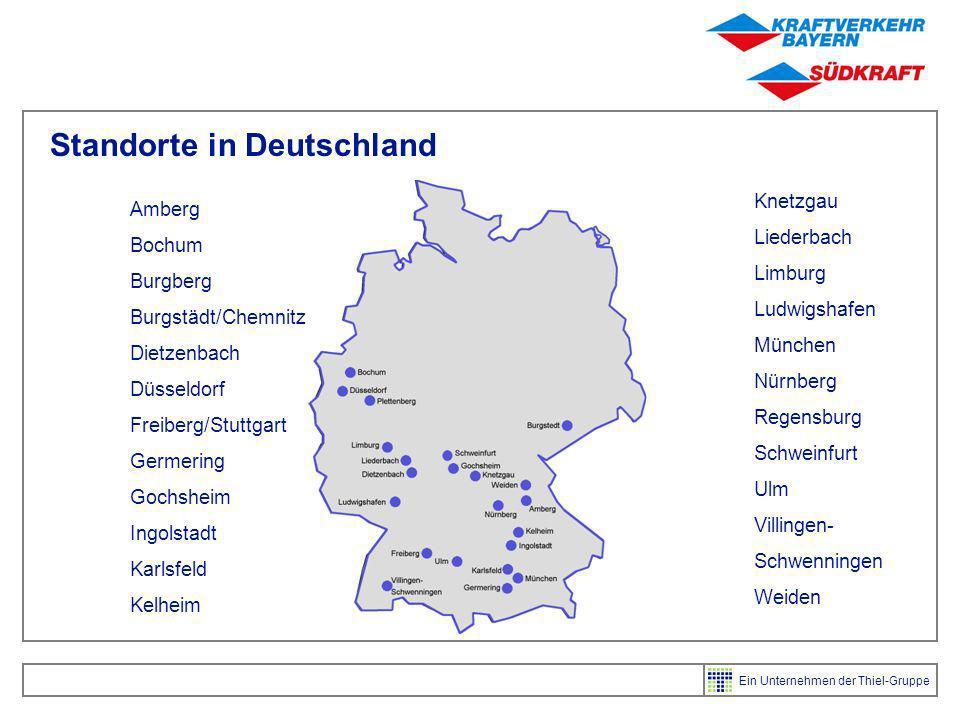 Ein Unternehmen der Thiel-Gruppe Standort Karlsfeld Standort Karlsfeld bei München symbolisiert die besonderen Stärken der gesamten Unternehmensgruppe 50.000 m² Lager mit 54 Rampentoren Lager dient nicht nur den klassischen europaweiten Sammelgut-, Teil- und Komplettladungsverkehren, sondern auch als zentraler Osteuropa-Hub der gesamten Thiel-Gruppe