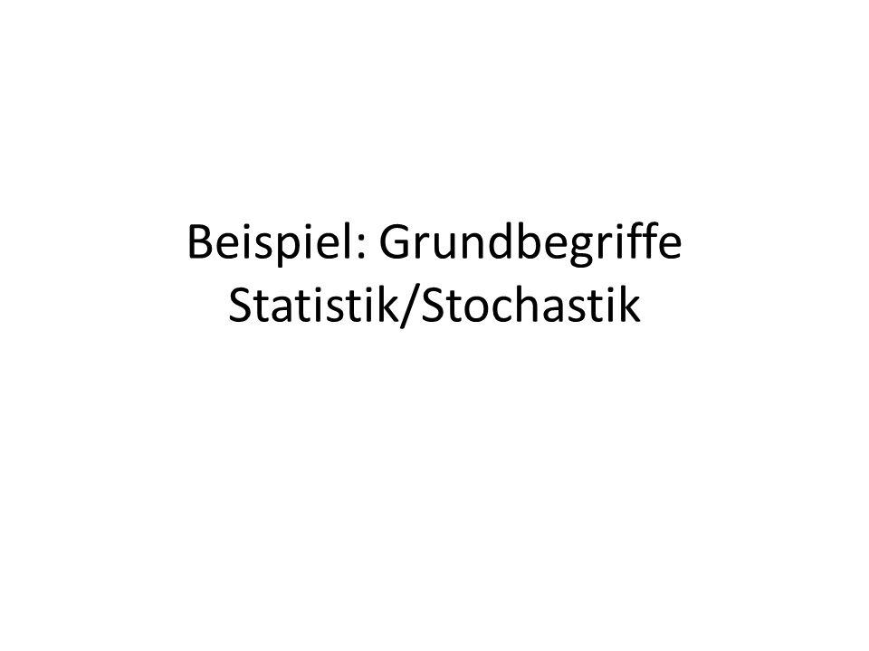 Beispiel: Grundbegriffe Statistik/Stochastik
