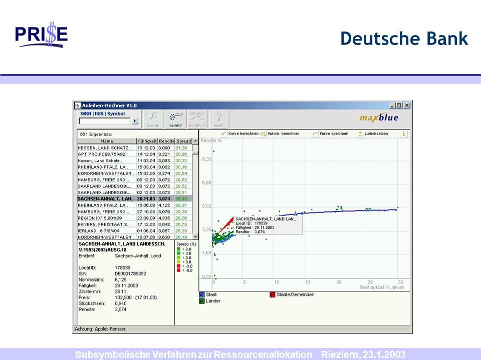 Subsymbolische Verfahren zur Ressourcenallokation Riezlern, 23.1.2003 Stage 2 (z.B. i=4)
